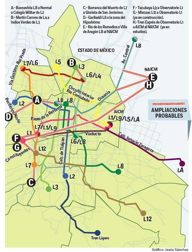 Planean Ampliar Lineas Del Metro De La Cdmx
