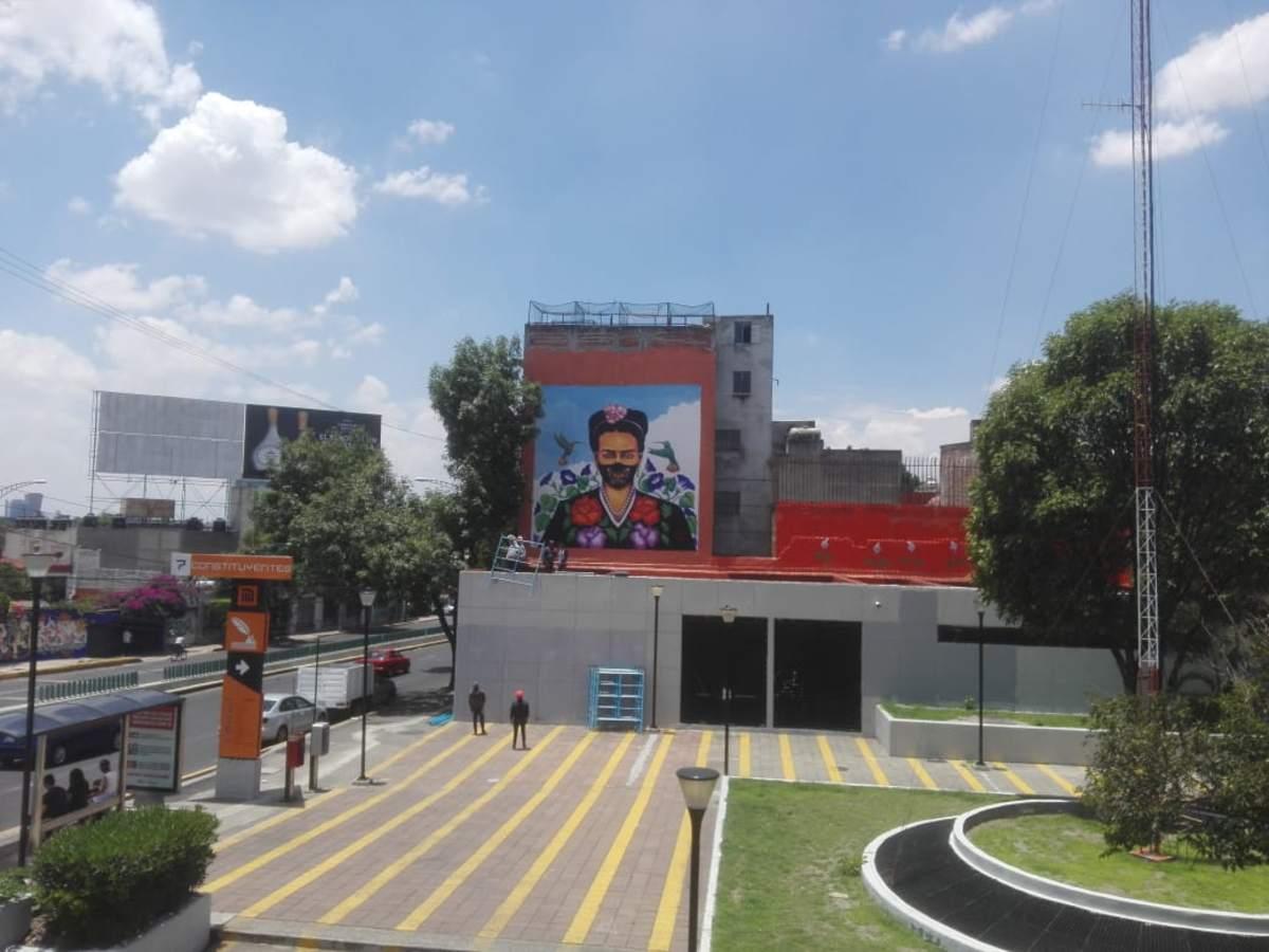 Estrenará MH mural de Frida Kahlo... con cubrebocas