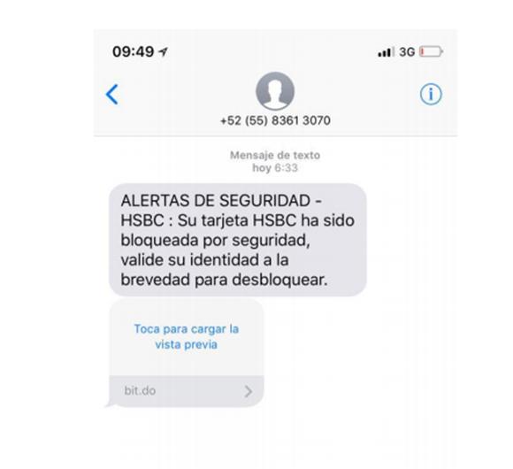 estafa con mensaje de texto