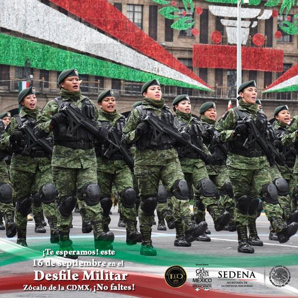 Inicia Desfile Militar del 207 aniversario de la Independencia