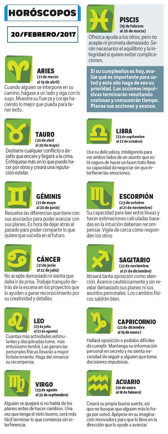 Horoscopes - Excélsior 1
