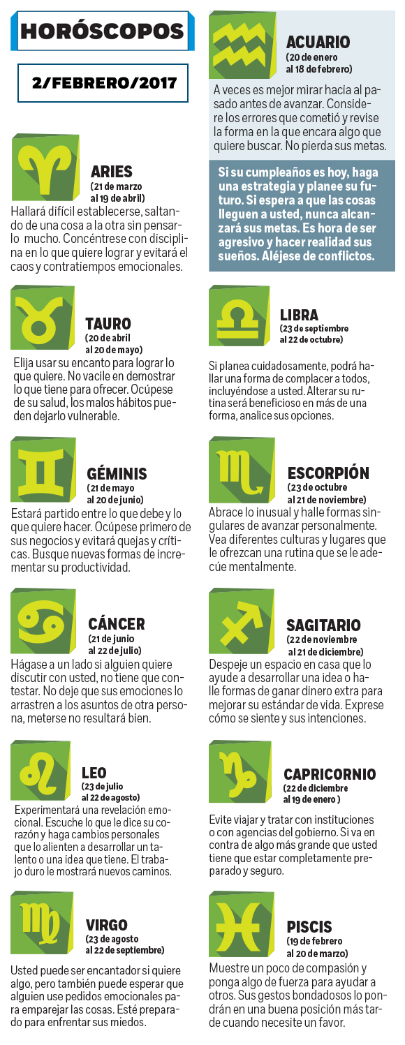 Look at what it says your horoscope today, Thursday, February 2 - Excélsior 2