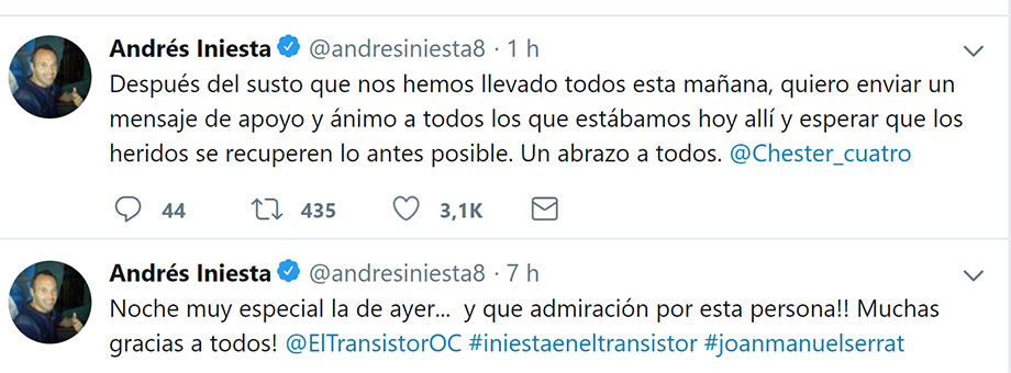 Andrés Iniesta - entrevista - Barcelona