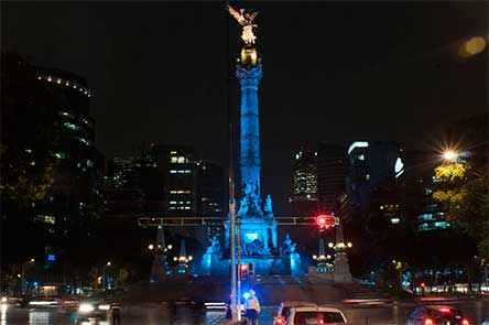 Angel Independencia CDMX Hepetitic C Iluminado