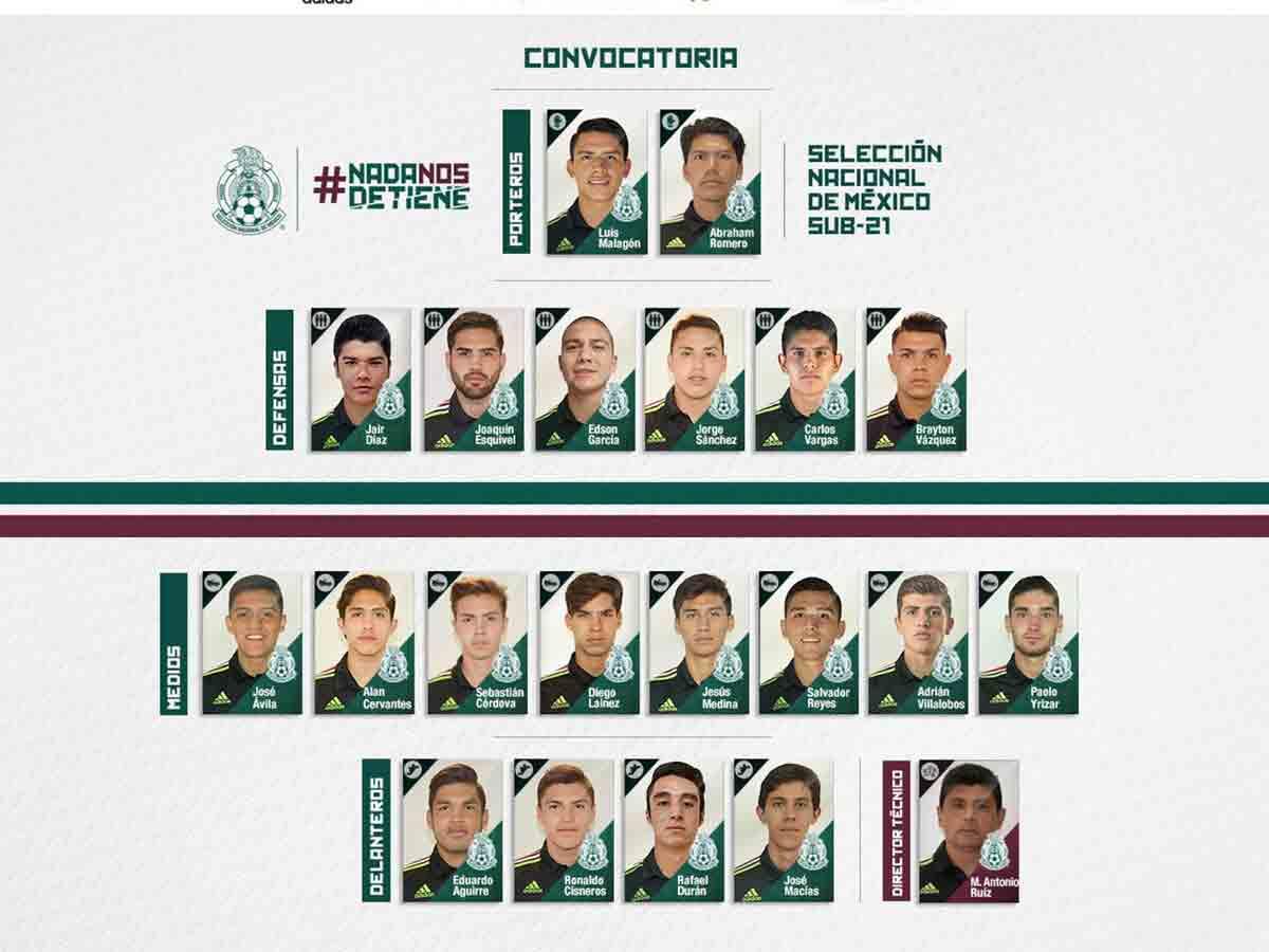 Diego Lainez, convocados, selección mexicana, Sub 20, Juegos Centroamericanos, Barranquilla 2018, Futbol