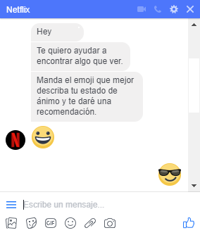 Mándale un emoji a Netflix y recibe una recomendación