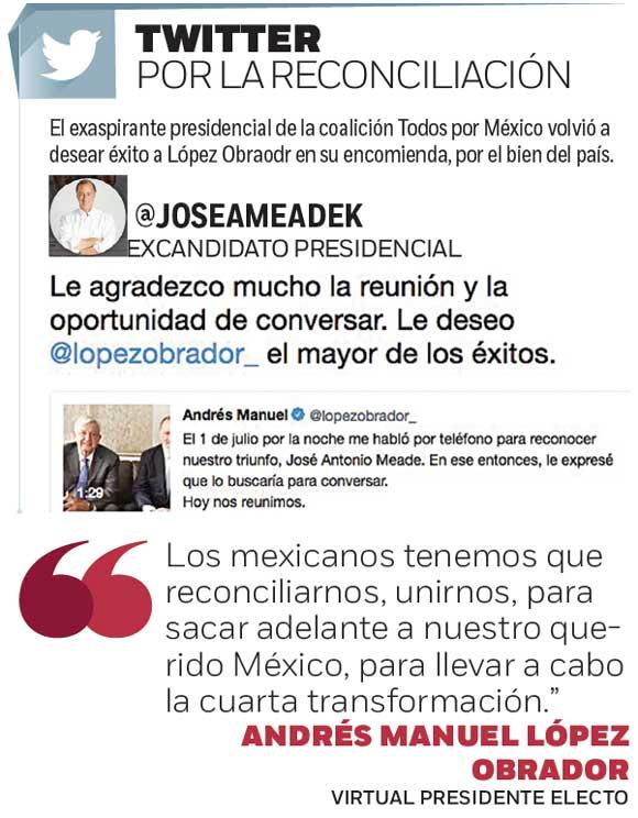 Sigue López Obrador sumando; reunión con José Antonio Meade