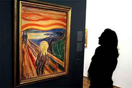 """desparacen, museo, noruega, oslo, seis, 6, obras, pinturas, edvard, munch, La muerte de Marat"""", """"Mujer joven llorando en la cama"""", """"Retrato de la señora R"""", """"Tiergaten-Berlín"""", """"Åge Christian Gierløff"""" y """"Omega llora, maleri, edvard, munch, marats død """","""" ung kvinne som gråter i seng """","""" portrett av fru r """","""" tiergaten-berlin """","""" Åge Christian Gierløff """"og"""" Omega gråter"""