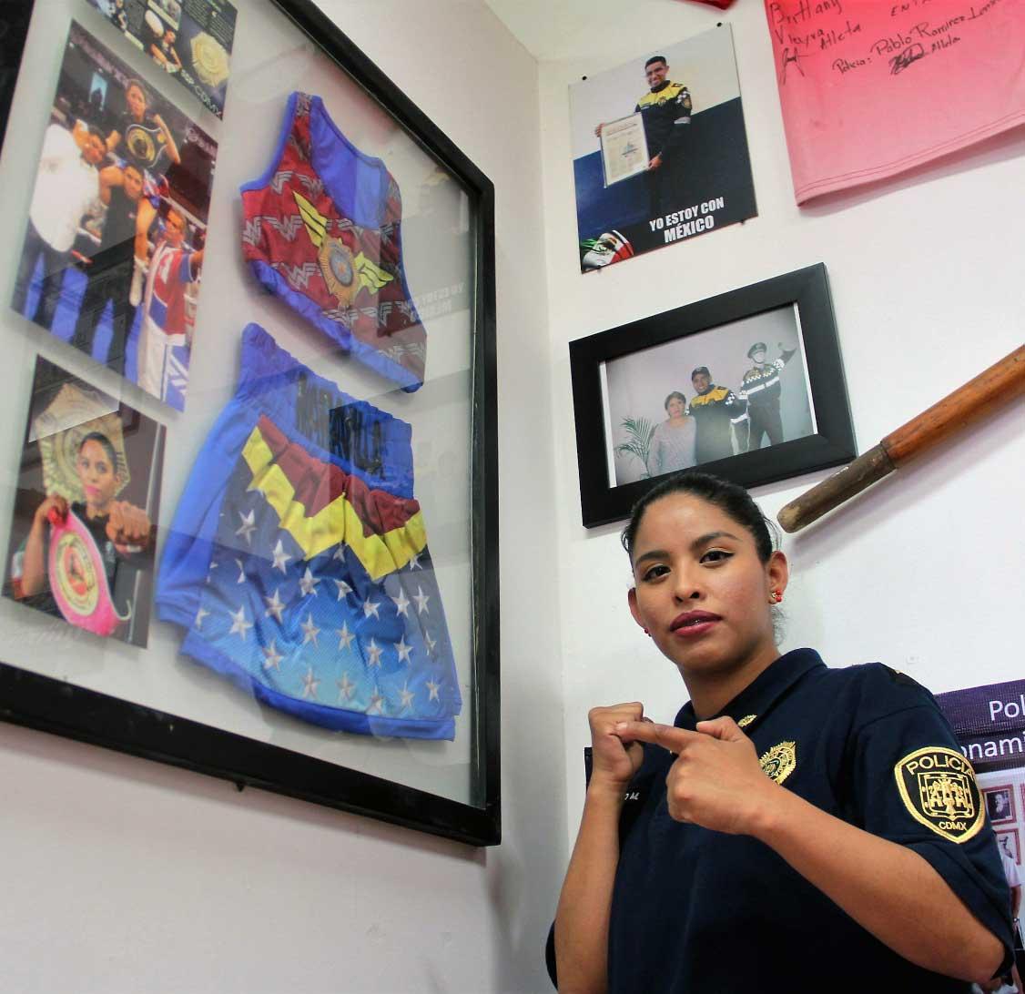 Seguridad, Justicia, CDMX SSC, Lucía La Maravilla Hernández, Box, OMB, Campeona, Deporte, Policía