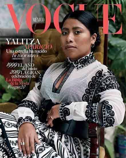 Yalitza en la portada d ela revista Vogue