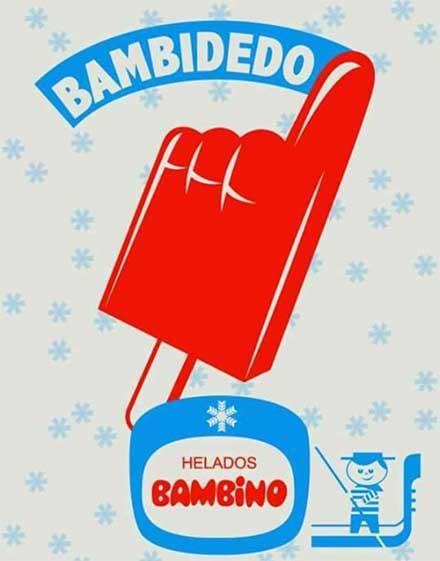 Bambidedo de Bambino, paleta helada