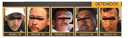 Fotografías de las caras de los violadores