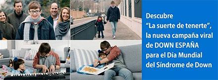 """Imágenes sobrepuestas de una campaña que se llama """"la suerte de tenerte""""."""