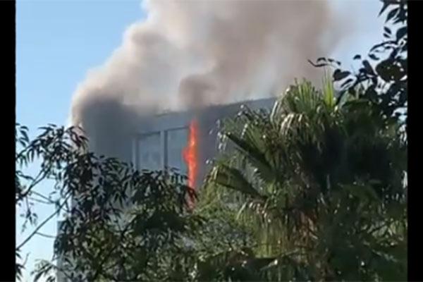incendio en Conagua