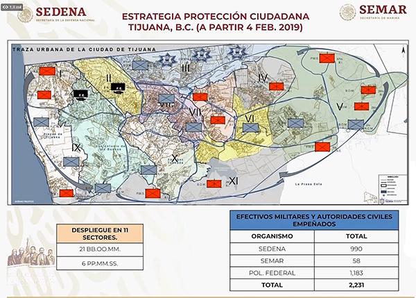 A la fecha, la Sedena informa que se han reducido de 5.1 a 4 el promedio diario de homicidios dolosos en Tijuana gracias a operativo con esquema de Guardia Nacional. Imagen: Captura de video