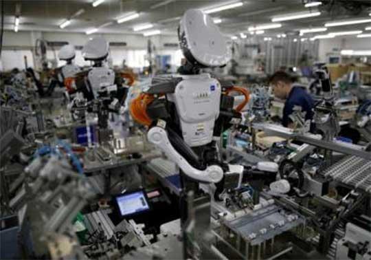 Robot en una fábrica