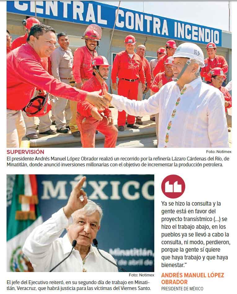 Andrés Manuel defiende consulta por el tren transístmico
