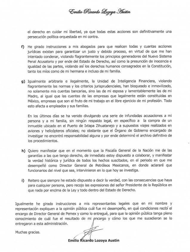 Carta Lozoya