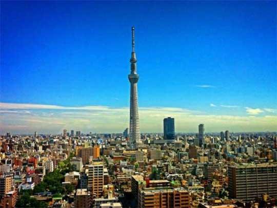 Imagen panorámica de Tokio, Japón