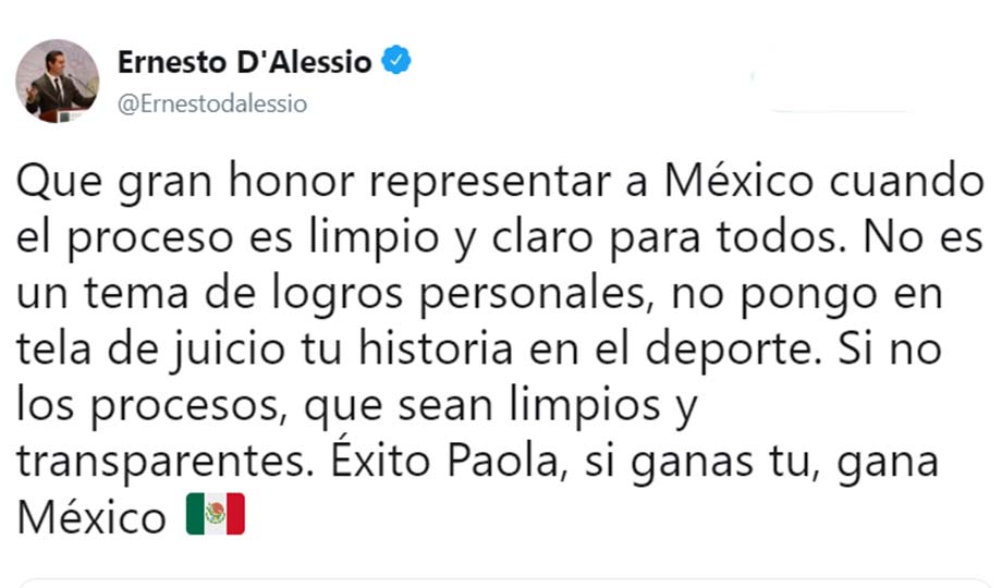 Paola Espinosa le responde a Ernesto Vargas: