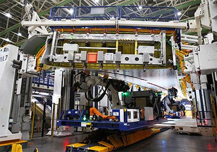 Una fábrica robotizada