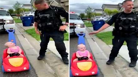 Policía 'infracciona' a su propia hija de ¡10 meses de edad!