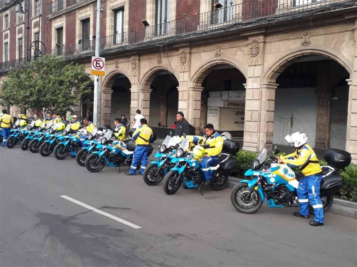 Por primera vez en la historia de la Ciudad de México paramédicos se trasladarán en 40 motocicletas para dar atención prehospitalaria de forma gratuita