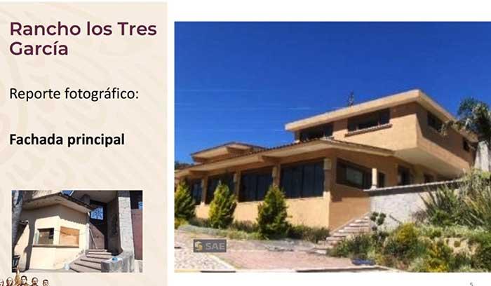 """El rancho """"los Tres García"""" tiene un área de 21 mil 302.50 metros y será ahora una universidad pública."""