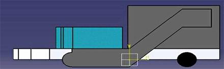 Imagen del diseno de cómo sería el vehículo