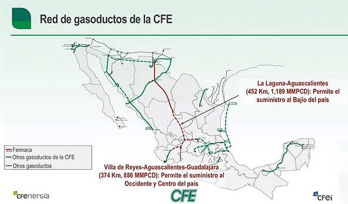 La empresa Fermaca maneja los ductos La Laguna-Aguascalientes y Villa de Reyes-Aguascalientes-Guadalajara. Imagen: Especial