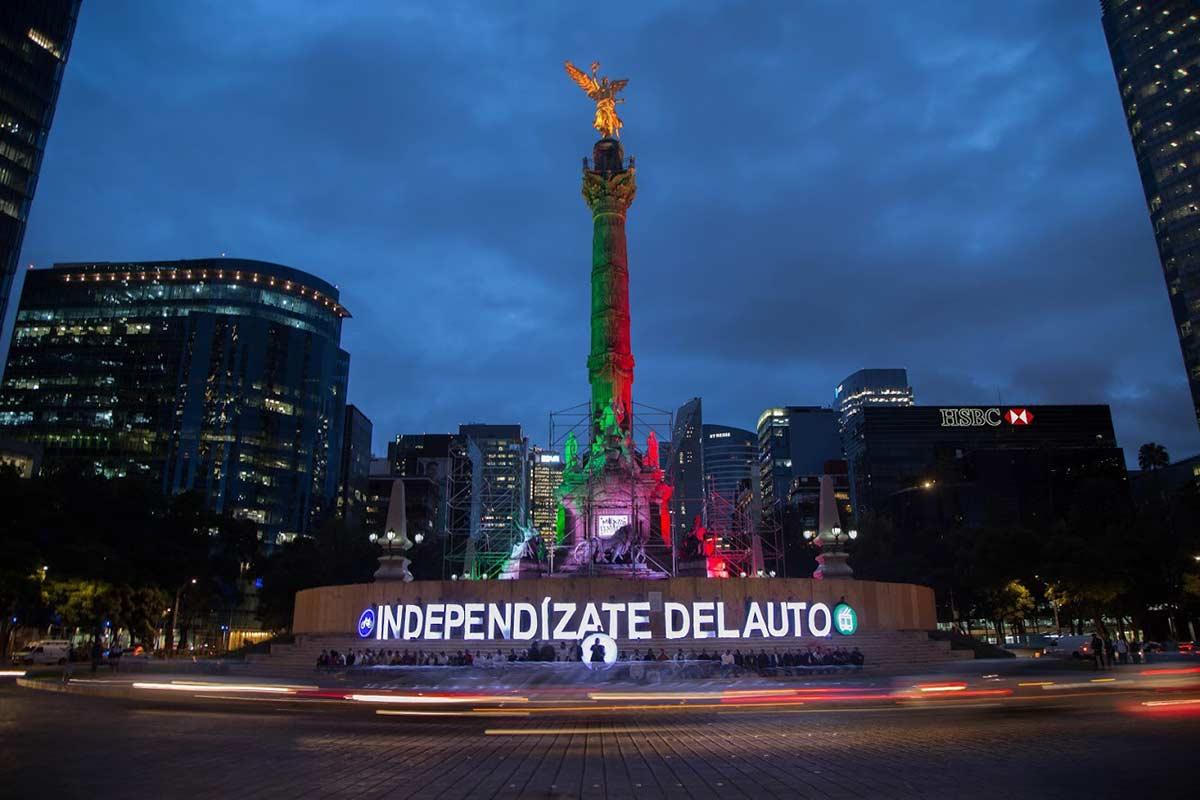 Organizaciones de la sociedad civil dieron por adelantado en este mes patrio, el grito por la Independencia del Automóvil. Foto: Ernesto Méndez