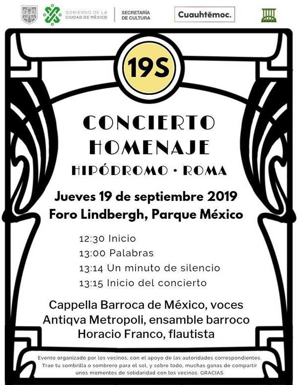 Programa del concierto del próximo jueves. Imagen: Especial