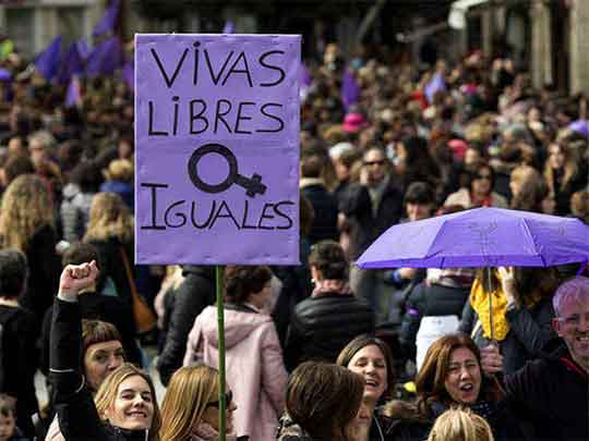Marcha de mujeres en Sevilla