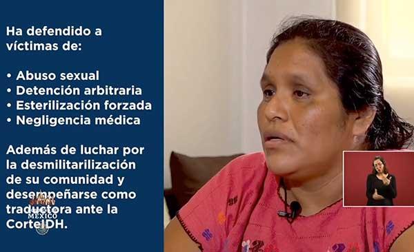 La activista indígena Obtilia Eugenio Manuel recibió el Premio Nacional de Derechos Humanos 2019. Imagen: Especial