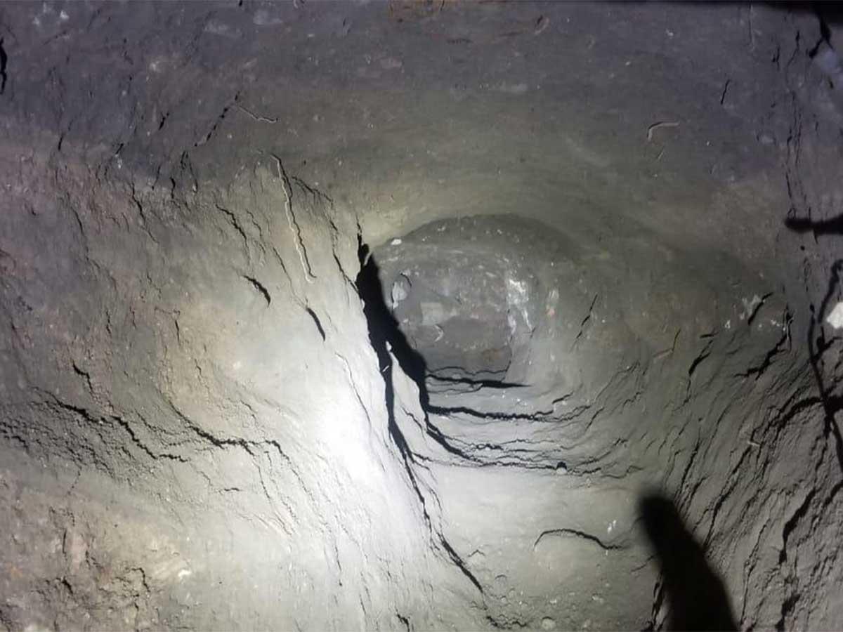 Imagen del narcotúnel localizado en Sonora por la Guardia Nacional / Foto: Especial