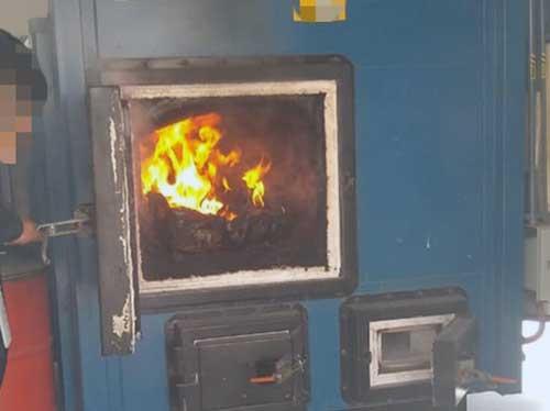 Momento en el los productos de totoaba decomisados son incinerados por la FGR. Foto: Especial