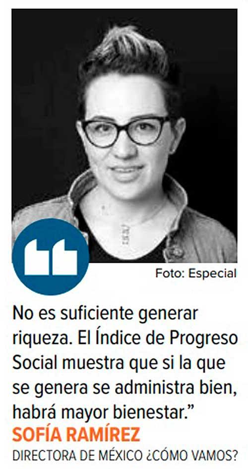 Sofía Ramírez, directora de México ¿cómo vamos? Foto: Especial