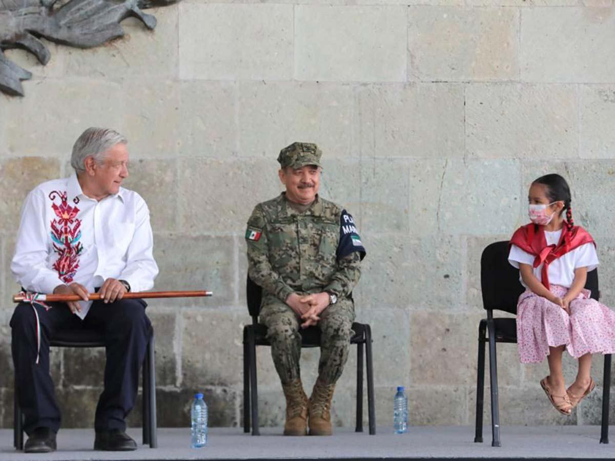 Andrés Manuel López Obrador en el marco del 215 Aniversario del Natalicio de Benito Juárez García, desde Guelatao de Juárez, Oaxaca // Foto: Especial