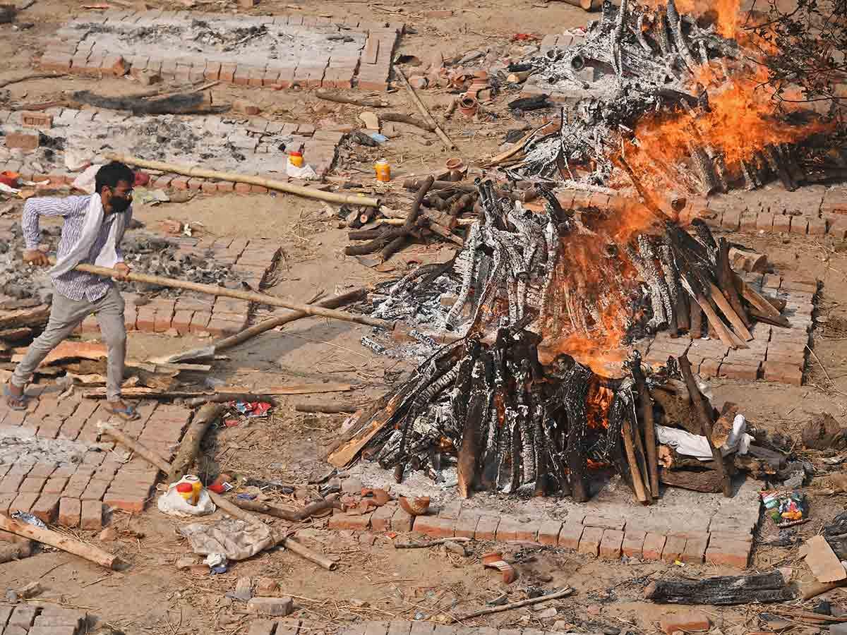 Se incrementaron las cremaciones en India / Foto: AFP
