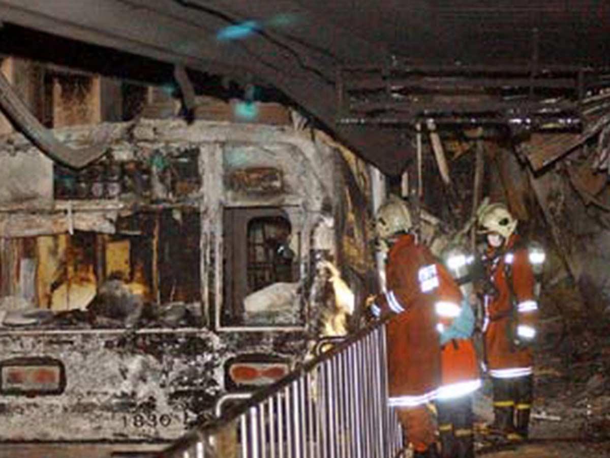 Imagen del vagón de metro de Corea del Sur donde se origino el fuego / AP