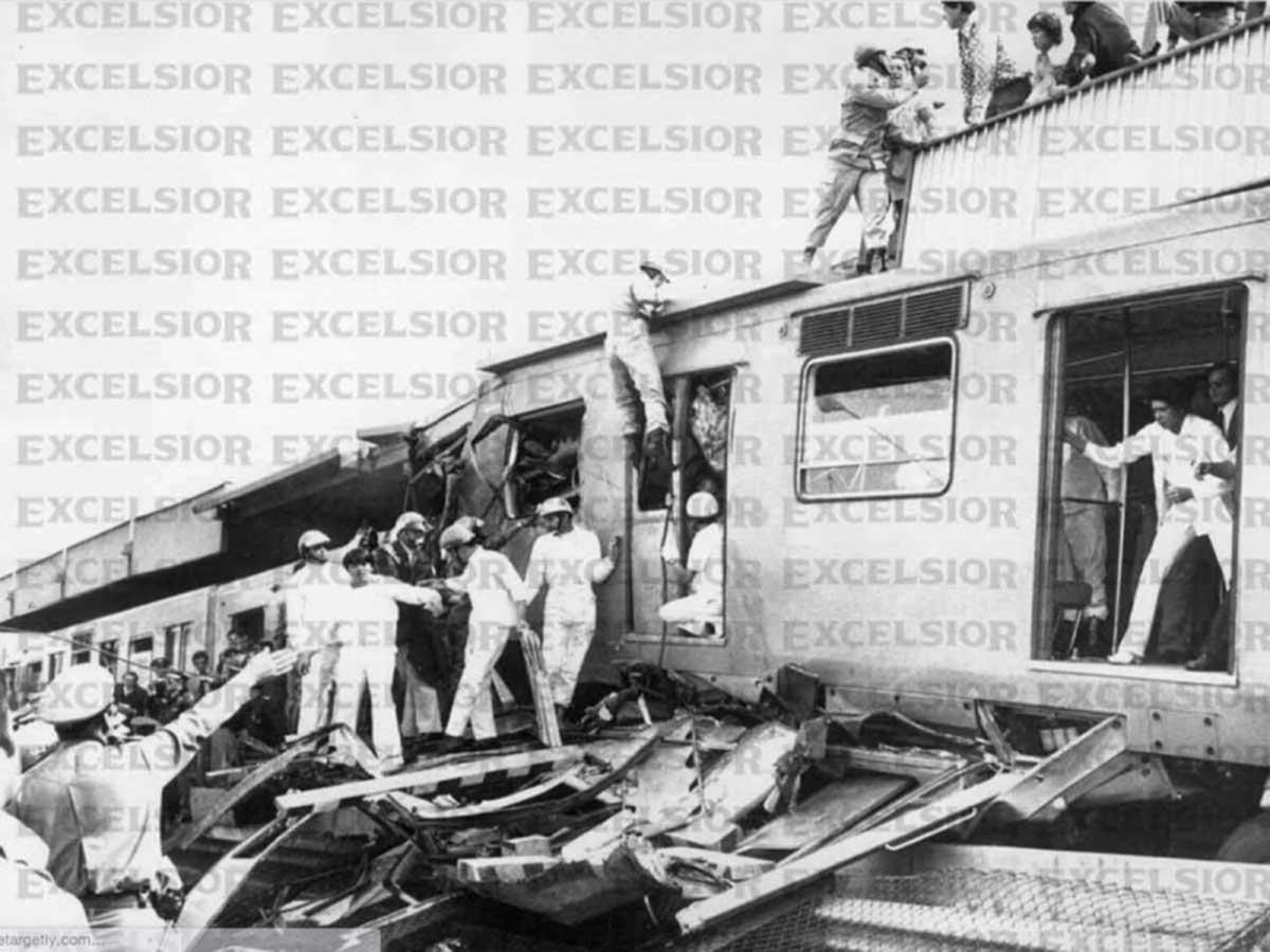 Imagen de archivo del accidente en el Metro en 1975