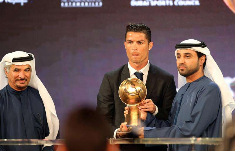 "'CR7' recibe el ""Globe Soccer"" al mejor futbolista del 2014"