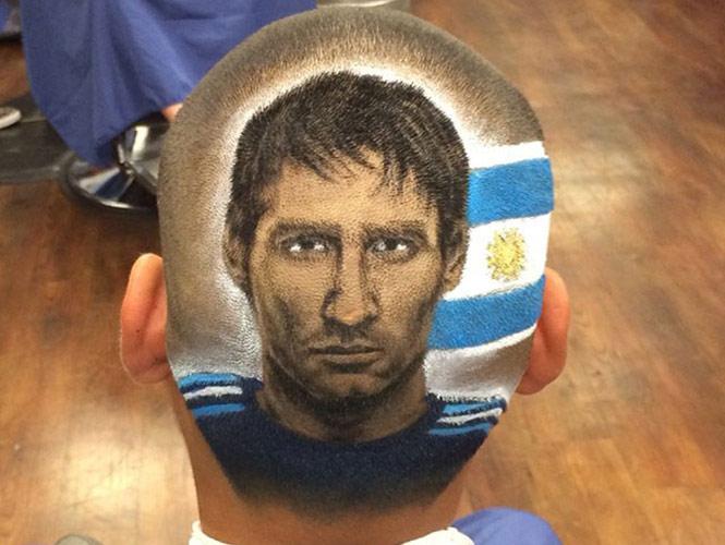 El rostro de Messi, 'Chicharito' y CR7 en cortes de cabello