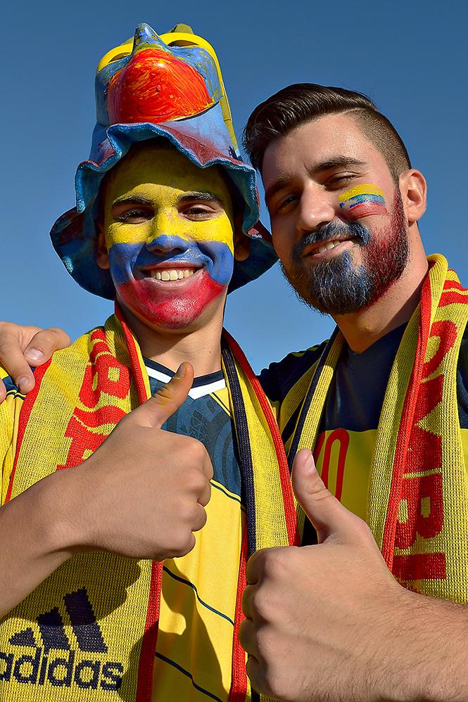 FOTOGALERÍA: El color y la belleza en el Colombia vs. Perú