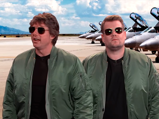 Épico: Tom Cruise recrea sus películas al lado de James Corden