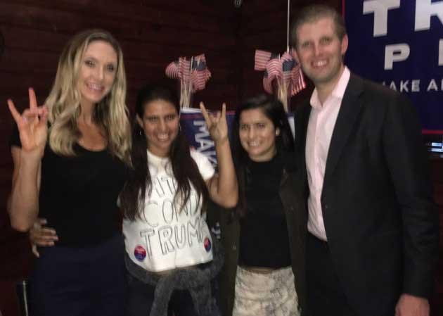 Hermanas latinas ridiculizan al hijo de Trump, ¡en su cara!