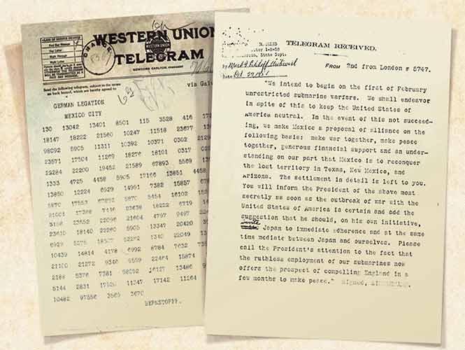 Telegrama Zimmermann - Invitación Alemana a que México-Alemania-Japón, ataquen a E.U - 1917 1627026
