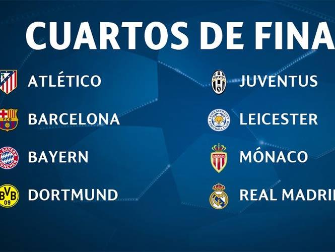Listos los ocho equipos para los cuartos en la Champions