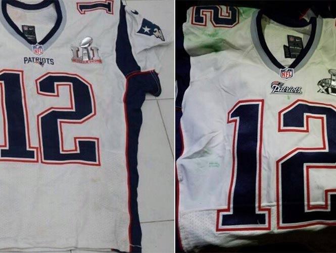 Estos son los jerseys de Brady que sustrajo periodista mexicano 061a654b5244