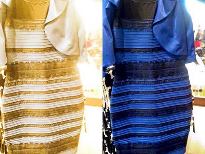 Vestido Azul Negro O Blanco Dorado Explicacion Nuevos